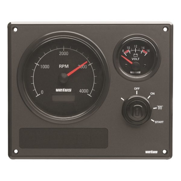 VETUS Engine instrument panel type MP22 MP22BW24A